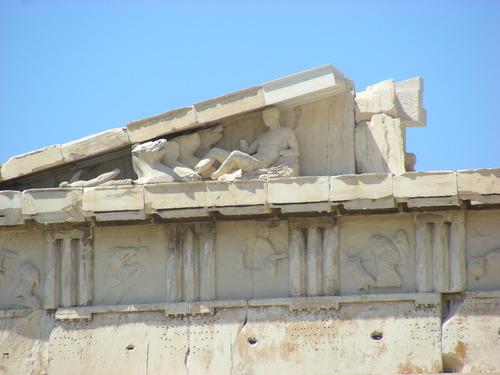 Particolare del timpano del Partenone, Atene